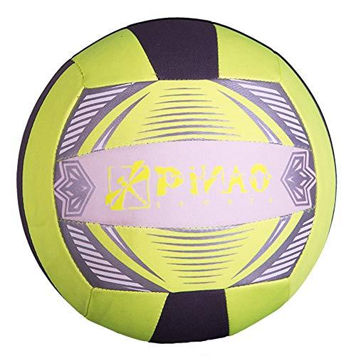 PiNAO Sports - Neopren-Volleyball, Größe 5, Neon-Gelb (31032) [Volleyball, Beachvolleyball, Strand, Beach]