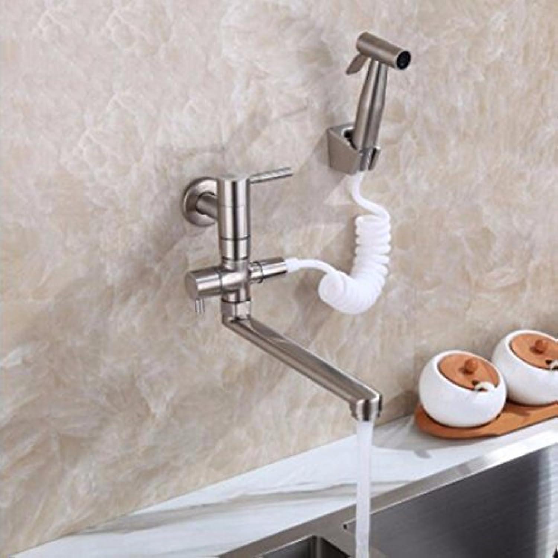 ETERNAL QUALITY Badezimmer Waschbecken Wasserhahn Messing Hahn Waschraum Mischer Mischbatterie Tippen Sie auf die Wand - sowohl mit der Verlngerung und der Pool Pool ws