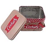 Yardwe Grande Latta del Biscotto Scatole di Caramelle Biscotti Trattare Scatole di Immagazzinaggio della Caramella Contenitori con Coperchi per I Favori di Partito Regali Rosso