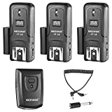 Neewer 16 Channels Wireless Radio Flash Speedlite Studio Trigger Set, Including (1) Transmitter and (3) Receivers, Fit for Canon Nikon Pentax Olympus Panasonic DSLR Cameras (CT-16)