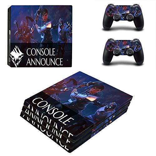 FENGLING Spiel Dauntless Ps4 Pro Skin Sticker für Sony Playstation 4 Konsole und Controller Ps4 Pro Skin Sticker Aufkleber Vinyl