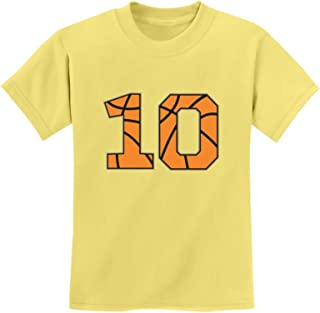 Tstars - Basketball 10th Birthday Gift for Ten Year Old Youth Kids T-Shirt