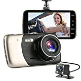 PA H300 Dash Cam - Caméra d'instrumentation de voiture Full HD 1080p DVR-170 ° Grand angle -...