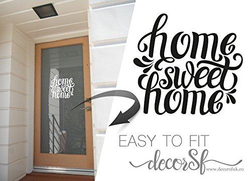 Home Sweet Home–Felpudo Adhesivo Vinilo extraíble vinilo para puertas Office Home Cafe Hotel