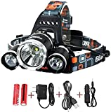 Best Rechargeable Headlamps - Best Sellers LED Headlamp 20000 Lumen flashlight IMPROVED Review