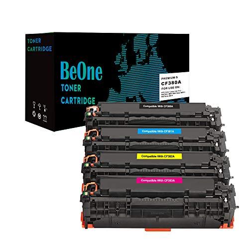 BeOne® Toner kompatibel zu HP 312A CF380A CF381A CF382A CF383A für HP Colour Laserjet Pro MFP M476dn M476dw M476nw