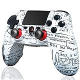 BMSARE Mando PS4 Inalámbrico, Bluetooth Inalámbrico Game Mandos Gamepad Joystick para PS4 Pro/Slim con 6 Axis Gyro Sensor y Dual Shock Vibración, Audio Micrófono y Touch Panel Pintada