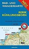 Rad- und Wanderkarte Rerik, Kühlungsborn: Mit Heiligendamm, Neubukow, Kröpelin. Maßstab 1:30.000. Wasser- und reißfest.