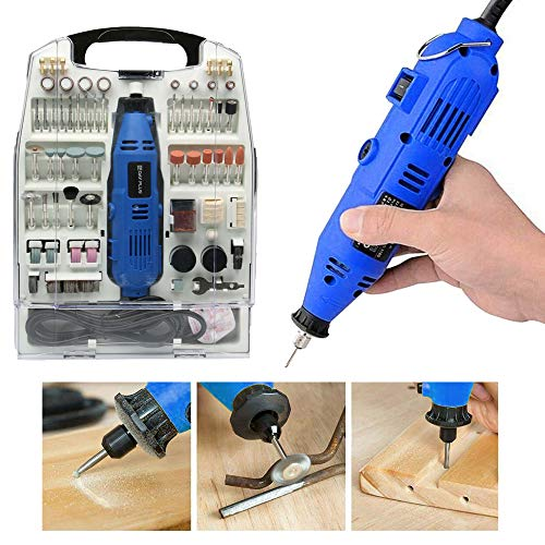 Rotary Multi Tool 135W, Variable Speed 10000-32000rpm, for Cutting, Sanding, Drilling, Grinding, Polishing, Cleaning, Carving, Sharpening, with 234pcs Accessory Set