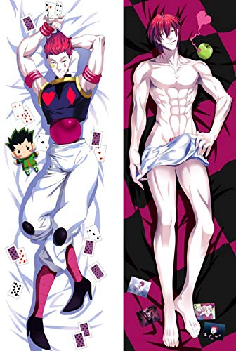 Japan Anime Hunter x Hunter DXF Hisoka BL Male Pillow Cover Cases Cover Hugging Body 57015 Dropship Bedding Pillow pet 150x50cm Peach Skin