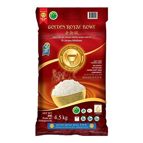 Jasmin Duft Reis - Premium Thai Hom Mali Rice - Golden Royal Bowl 4,5kg
