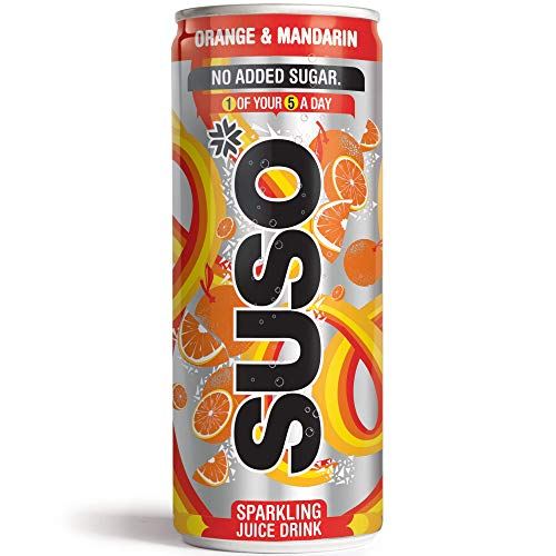 Suso Sparkling Orange and Mandarin Cans - 24x250ml