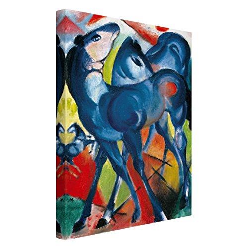 Bilderwelten Cuadro en Lienzo - Franz Marc - Los Potros Azules - Alto 3:2, Cuadros Cuadro Lienzo Cuadro sobre Lienzo Cuadro Moderno Cuadro Decoracion, Tamaño: 150 x 100cm