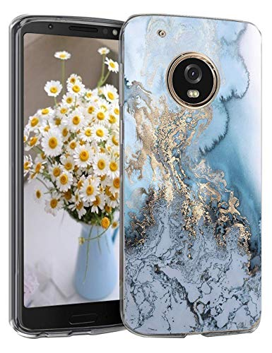 5-Blair for Moto G5 Plus Case Flower Clear Soft Transparent Silicone Cover