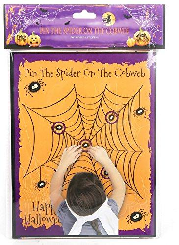 "Halloween-Partyspiel ""Pin The Spider On The Cobweb"""