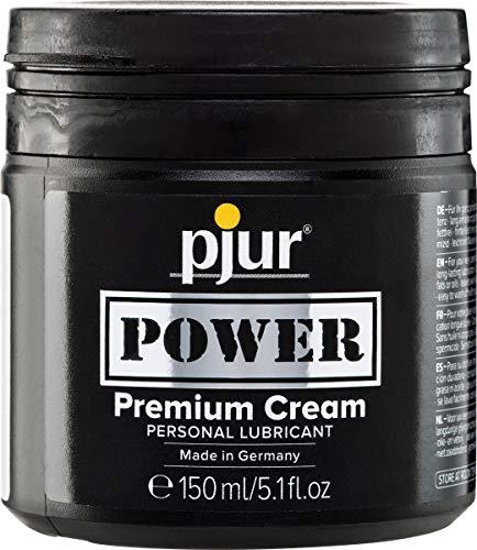 pjur POWER Premium Cream - Fisting Gleitgel mit cremiger Formulierung für extra starken Sex - auch für große Toys & Dildos geeignet (150ml)
