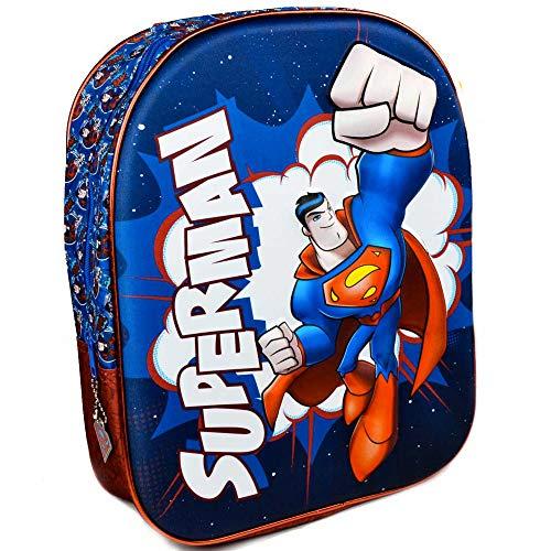 Warner Bros Superman Stampa Rilievo 3D Warner Bros Zainetto per Bambini, 32 Cm, Multicolore