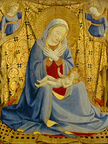 """Fra Angelico The Madonna of Humility 1430 National Gallery of Art Washington DC 24"""" x 18"""" Fine Art Giclee Canvas Print (Unframed) Reproduction"""