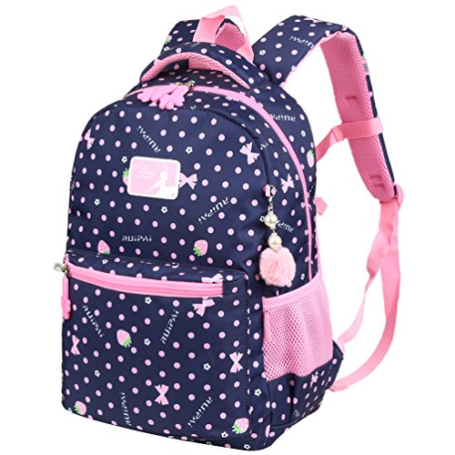 Vbiger Rucksack Mädchen Rucksack Kinder Schulrucksack Kinderrucksack Schultasche für mädchen 1-3 Klasse Blau