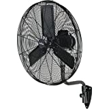 GARRISON 2477844 3-Speed Industrial Oscillating Wall Mount Fan with 9500 CFM, 30'
