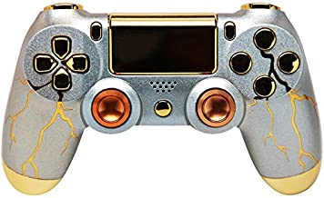 Gold Thunder Ps4 Rapid Fire Custom Modded Controller 35 Mods COD Advanced Warfare, Destiny, Ghosts Quick Scope Auto Run Sniper Breath and More
