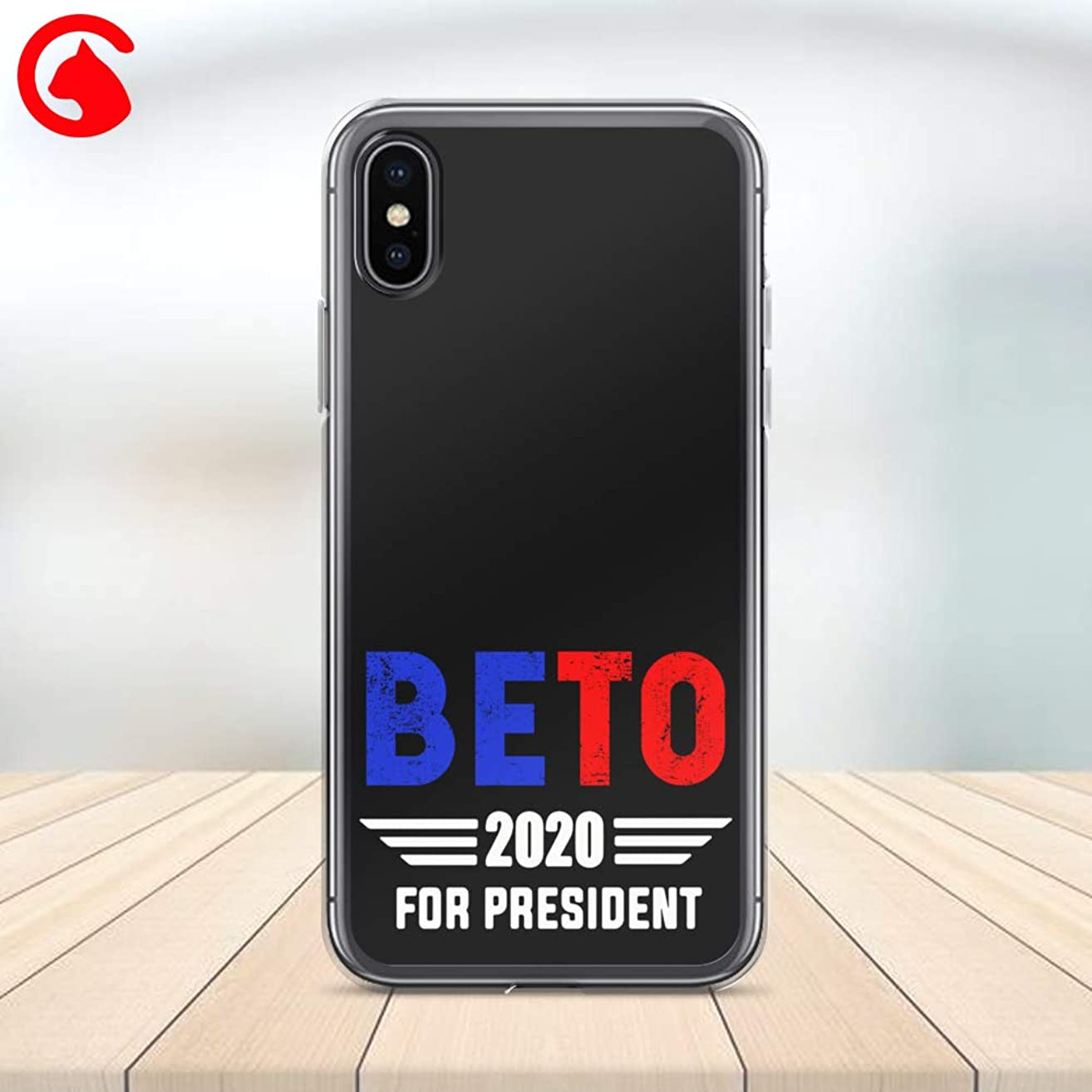 CatixCases Beto Orourke 2020 Phone Case Beto For President Custom Cell Plastic Сlear Case for Apple iPhone X/XS/XR/XS Max / 7/8 / plus iPhone 6 / 6S plus Protector Protective Cover Art Design