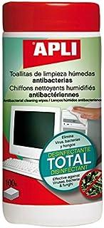 Apli 012083 100 Lingettes Nettoyantes Antibactériennes