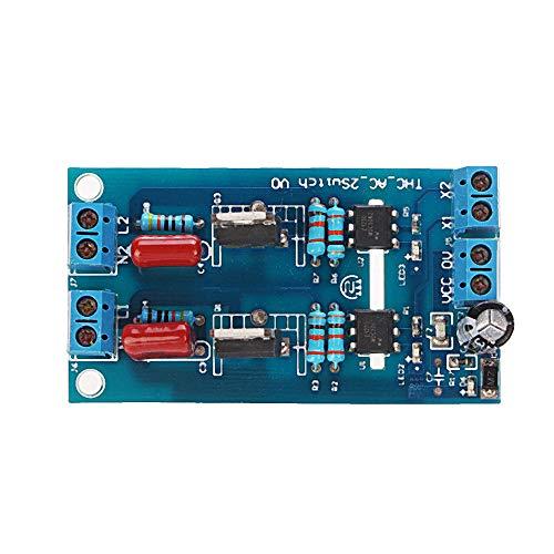 Módulo electrónico Canal PLC PLC DC Transistor Amplificador Placa de aislamiento Placa 2ch Equipo electrónico de alta precisión