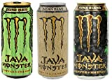 Monster Java Bundle of 12- 15 Oz Cans in 3 Flavors: 4 Cans Each of Mean Bean, Irish Blend, and Kona Blend