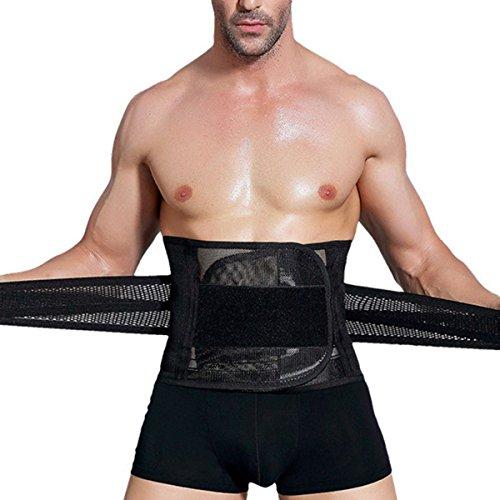 Slimerence Rücken Fitnessgürtel, Breathable Bauchgurt Rückenbandage Slimmerbelt Taillen-Trimmer Übung Gürtel Bauch Gürtel Shaper für Männer und Frauen M
