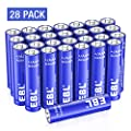 EBL Alkaline AAA Batteries - 1.5V Triple A Long-Lasting Alkaline Battery with 10-Year Shelf Life - Pack of 28