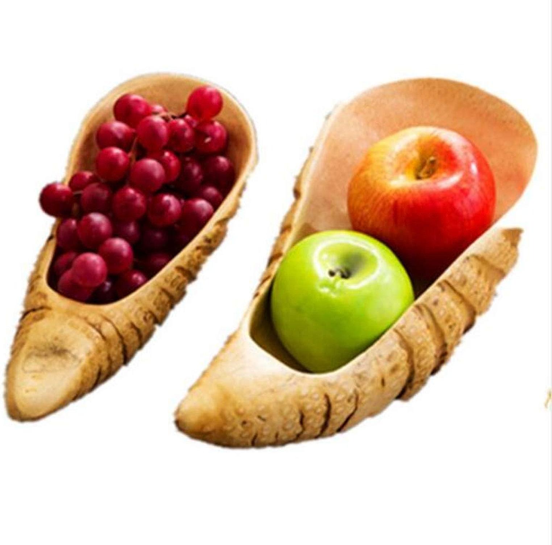 PORCN Assiette de Fruits en Bois Plaque en Bois Moderne Original Naturel Plaque de Fruits Plaque de Fruits ménage Fruits secs graines de Melon Plateau de Bonbons Plaque Plaque, 1 PC