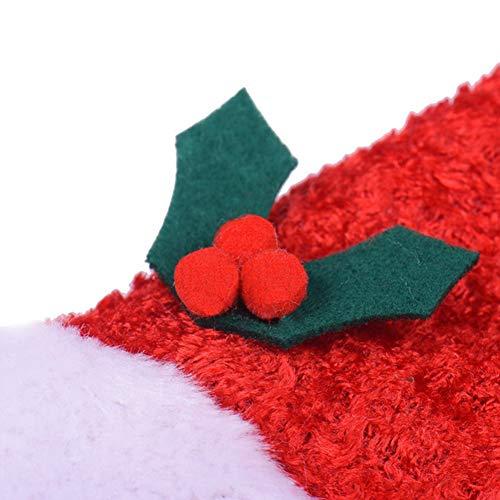 DishyKooker süßes Haustier Cosplay Kostüm Hund Katze rot Weihnachten Hut für Herbst Winter Kleidung, rot, Large