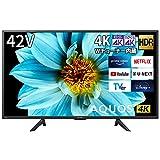 シャープ 42V型 液晶 テレビ AQUOS 4T-C42DJ1 4K チューナー内蔵 Android TV (2021年モデル) ブラック