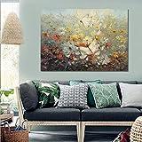 N / A Nordic Moderne leinwand Poster Natur nordischen Stil malerei wandbild Dekoration Kunst Blume Dekoration Wohnzimmer rahmenlose malerei 50 cm x 75 cm