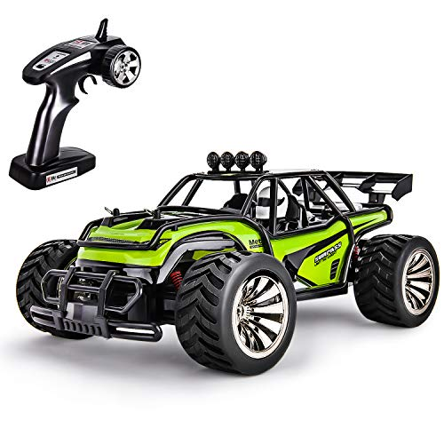 Remote Control Car Fast RC Cars Toys for 6-12 Years Old Boys,High Speed RC Truck Offroad Remote Control Truck RC Rock Crawler All Terrain RC Car Toys for Boys Kids Gift (Green)