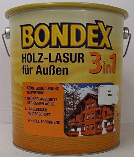 Bondex 3in1 Holzlasur für außen 0,75 Liter ebenholz