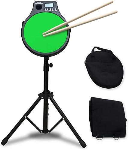 LINGLING-Trommel Spielzeugkinder üben 12-Zoll-Dumb-Drums-Drum-Metronom DREI-in-Eins-Funktionsinstrument (Farbe   Grün)