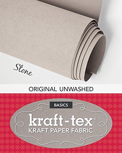 """kraft-tex Stone Original Unwashed: Kraft Fabric Paper, 19"""" x 1.5 Yard Roll (kraft-tex Basics)"""