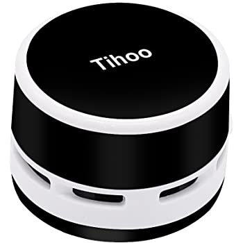 Peetoko 卓上そうじ機 乾電池式卓上掃除機 強力吸引 静音 簡単操作 事務所のテーブル、キーボード、家具の表面、座布団などの掃除にご使用いただけます