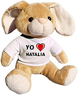 de peluche con Amo Eduard en la camiseta lémur nombre de pila/apellido/apodo Sifaca