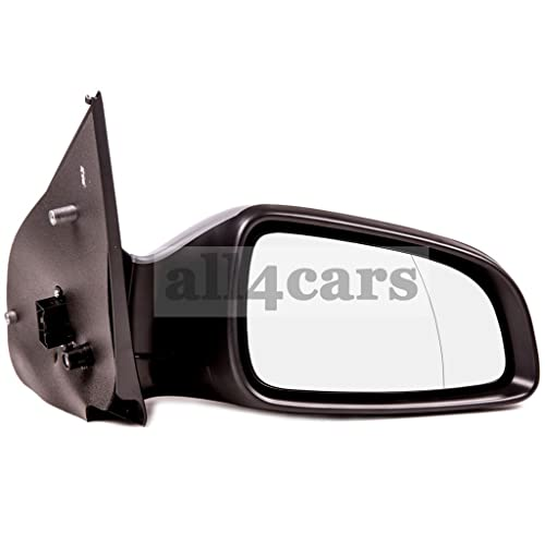 Vauxhall Meriva Mk2 2010-/> Door Mirror Electric Primed Black O//S Driver Right