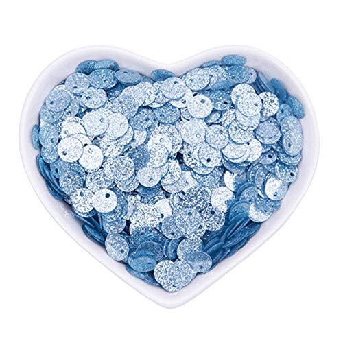 1850pc shimmer poeder sequin pvc platte ronde losse pailletten naaien bruiloft ambachtelijke vrouwen kleding accessoires lentejuelas, lichtblauw