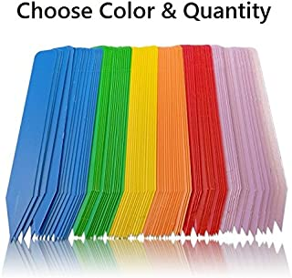 HIDGrow Plant Labels Pot Markers Garden Nursery Plastic Stake Tags - Choose Color (100, Lavender)