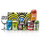 Brewdog Mixed Craft Beer Gift Packs with Branded Glass and 3 Bier Nut Snacks (5 x