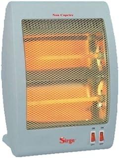 Sirge Caldoamore–Estufa de cuarzo, 800W (bajo consumo 400+ 400y calor inmediato), 2elementos, radiador calefactor para hogar u oficina