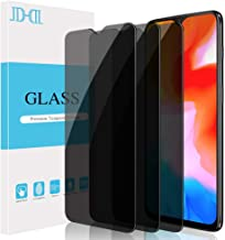 [3-Pack] JDHDL Screen Protector Compatible with Oneplus 6T Privacy Tempered Glass, Anti-Spy Premium Anti-Scratch LCD Screen Protector Bubble Free Easy Install Invisible Shield Glass for Oneplus 6T
