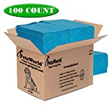 PETSWORLD Dog Training Puppy Pads 23x36, Case of 100 Dog Pee Pads, Basics Doggy Pee Pad, Good for Dog Food Wet, Large Dog Bed, Diaper Changing Pad, Cat Beds Prime