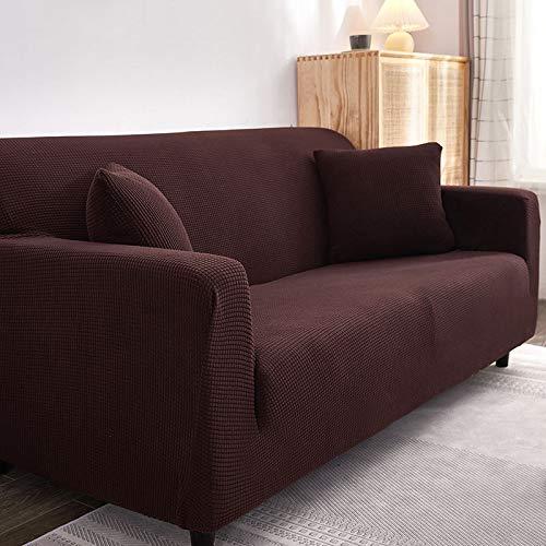 Toalla de sofá para Mascotas Resistente a la Suciedad Universal con Todo Incluido, Funda de sofá de Grano de maíz elástico Universal marrón S-Adecuado Longitud 90-140cm