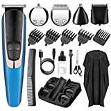 Hair Clippers Beard Trimmer for Men, HOCOSY 13 in 1 Barber Clippers Kit, Professional Cordless Waterproof Rechargeable Hair Cutting Kit, Compact Hair Grooming Kit for Men, Women & Children